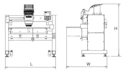 Masina de brodat cu un singur cap Barudan S1501CII